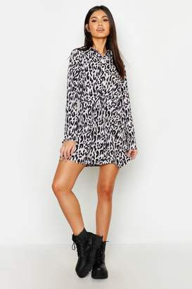 boohoo Wrap Front Tie Waist Shift Dress