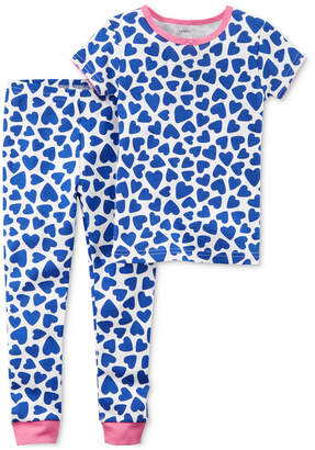 Carter's 2-Pc. Heart-Print Cotton Pajamas, Little Girls & Big Girls