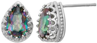 FINE JEWELRY Genuine Mystic Green Topaz Sterling Silver Earrings