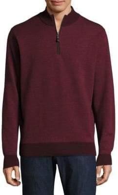 Peter Millar Birdseye Merino Wool Pullover
