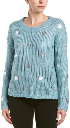 J.o.a. J By Polka Dot Wool-Blend Sweater
