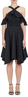 Derek Lam 10 Crosby Women's Ruffled Cotton Poplin Off-The-Shoulder Dress