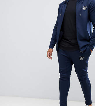 SikSilk joggers in navy exclusive to ASOS