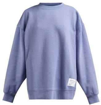 Acne Studios Fyona Loose Fit Cotton Jersey Sweatshirt - Womens - Blue