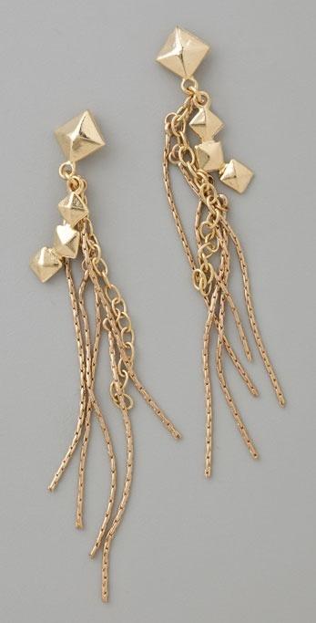 Rachel Leigh Pyramid Fringe Earrings