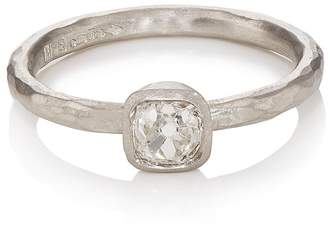 Malcolm Betts Women's Cushion-Shaped White Diamond Ring