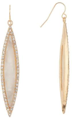 Natasha Accessories Opalescent Long Drop Earrings