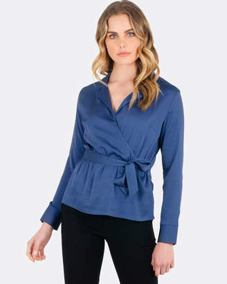 Forcast Mckenna Crossover Blouse