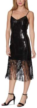 Laundry by Shelli Segal Sequin Fringe Cocktail Dress