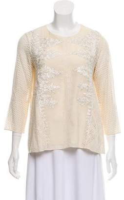 Vineet Bahl Embroidered Long Sleeve Top