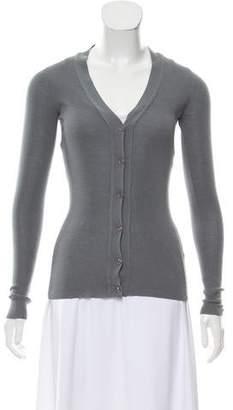 Saint Laurent Virgin Wool Knit Cardigan