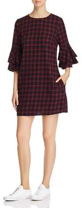 BeachLunchLounge Plaid Bell-Sleeve Dress
