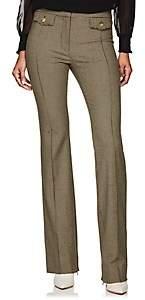 Derek Lam 10 Crosby Women's Checked Wool-Blend Flannel Crop Flared Pants - Camel