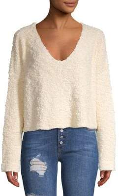 Free People Knit V-Neck Pullover