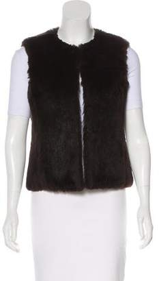 Theory Scoop Neck Fur Vest