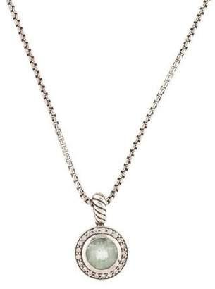David Yurman Prasiolite & Diamond Petite Cerise Pendant Necklace