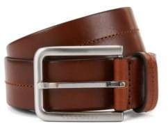 BOSS Hugo Leather Belt Sil 42 Brown