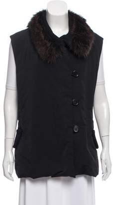 Derek Lam Fur-Trimmed Puffer Vest