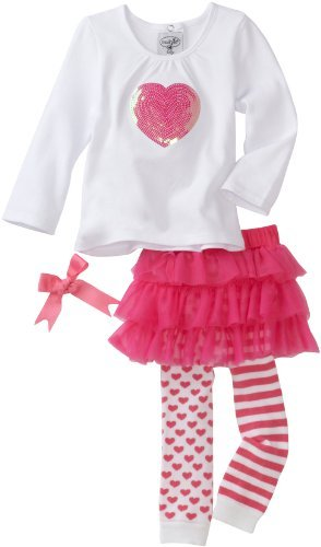 Mud Pie Baby-girls Newborn Heart Skirt Set