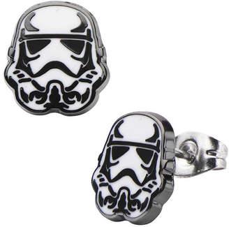 Star Wars FINE JEWELRY Stainless Steel and Enamel Stormtrooper Stud Earrings