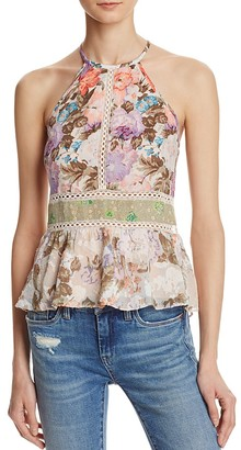 Rebecca Taylor Mixed Print Sleeveless Top $250 thestylecure.com