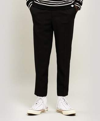Ami Cropped Wool Crepe Trousers
