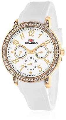 Seapro Women's SP4412 Swell Stainless Steel Case with Silicone Strap Watch