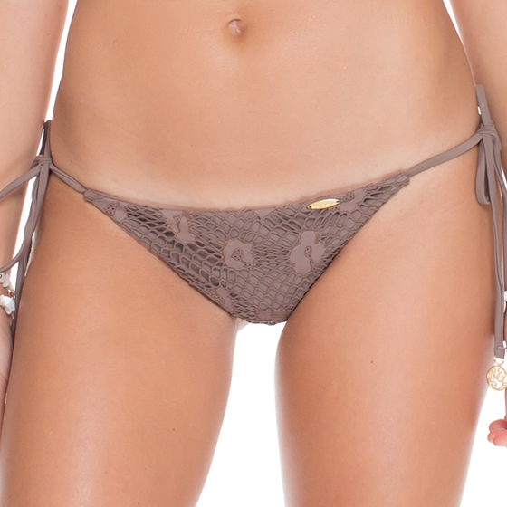 Luli Fama Brazilian Ruched Back Tieside In Sandy Toes (L50302P)