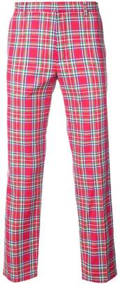 Faith Connexion plaid print trousers