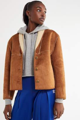 Urban Outfitters Easton Faux Suede Sherpa Jacket