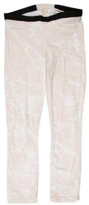 Helmut Lang Cropped Low-Rise Leggings