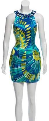 Emilio Pucci Silk-Blend Printed Mini Dress