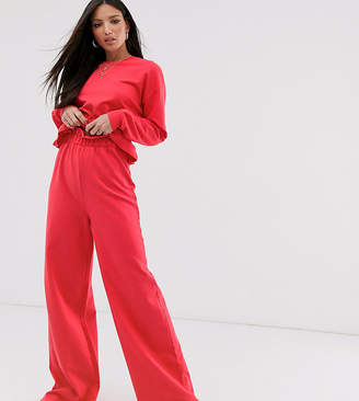 Asos Tall DESIGN Tall lounge mix and match paperbag waist wide leg pants