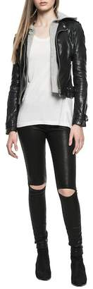 LAMARQUE Anna Zip-Up Hoodie & Leather Jacket Set