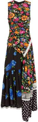 3.1 Phillip Lim Floral Patchwork Midi Dress