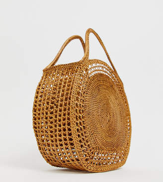 Ellen & James sophie handmade straw circle bag