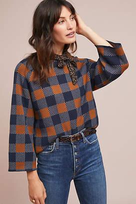 Nümph Plaid Intarsia Sweater