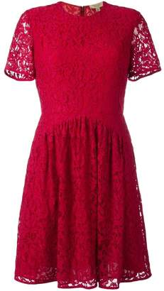 Burberry fit-and-flare lace dress