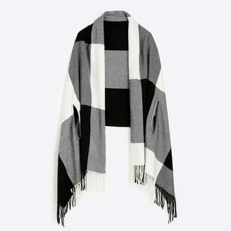 J.Crew Plaid cape-scarf