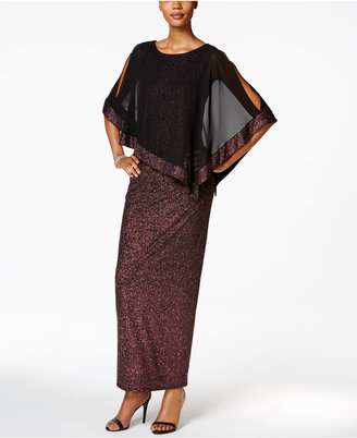 MSK Metallic Chiffon-Overlay Column Gown $109 thestylecure.com