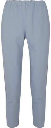 Bassike Stretch-crepe Tapered Pants - Sky blue