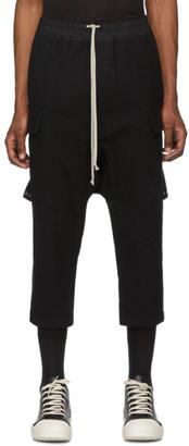 Rick Owens Black Drawstring Cargo Pants