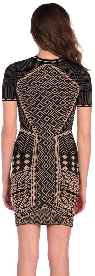 Torn By Ronny Kobo Candy Dress Tribal Jacquard