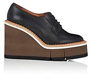Clergerie Women's Badiane Leather Platform-Wedge Oxfords - Black