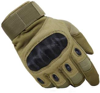 TACVASEN Tactical Hard Knuckle Shooting Gloves for Riding Motorcycle Military Swat Combat Assault