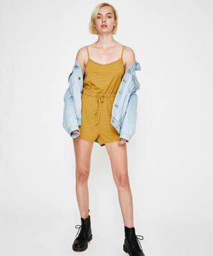 Insight Frequency Romper Mustard
