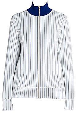 Stella McCartney Women's Compact Knit Pinstripe Zip Track Jacket