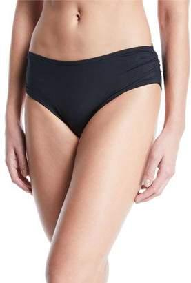 Carmen Marc Valvo Side-Shirred Full-Coverage Bikini Bottoms