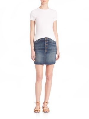 Rosalie Button Skirt $178 thestylecure.com