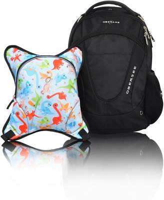 Obersee Oslo Diaper Bag Backpack with Detachable Cooler